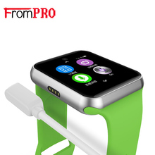 FROMPRO DM09 Bluetooth Montre Smart Watch 2.5D ARC HD Écran Support Carte SIM Portable Dispositifs SmartWatch Magie Bouton Pour IOS Android