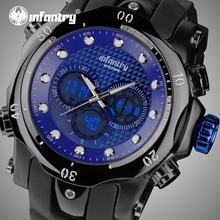 INFANTRY Mens Watches Top Brand Luxury Analog Digital Watch Men Big Tactical Army Military Watches for Men Relogio Masculino