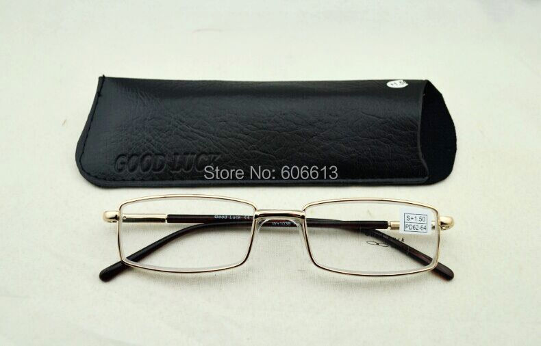 Leather Frame Reading Glasses : High Quality Reading Glasses With Leather Pouch Alloy ...