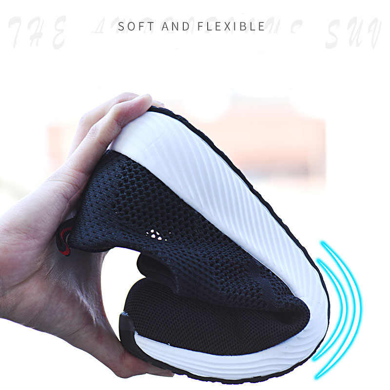 Yaz Erkekler Iş Güvenliği Botları Çelik Toecap Sneakers Erkek Kadın Iş Güvenliği Ayakkabıları Nefes Erkek Ayakkabıları Anti-smashing asker botu