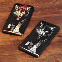 Ultra Thin Hard Back Cover Case For Apple IPhone 7 Plus Animal Fundas Smooth Wolf Tiger