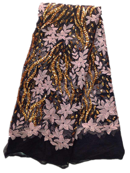 Pantalla al por mayor cordón africano nupcial/alta calidad guipir africano cristal tejida corbata para la boda nigeriana