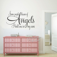 Angels Quotes Wall Art Decal Kids Lettering Quote Wall Stickers Children Room Quotes Removable Baby Nursery Decor Cut Vinyl Q244