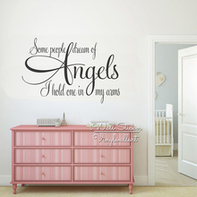 Angels Quotes Wall Art Decal Kids Lettering Quote Stickers Children Room Removable Baby Nursery Decor Cut Vinyl Q244