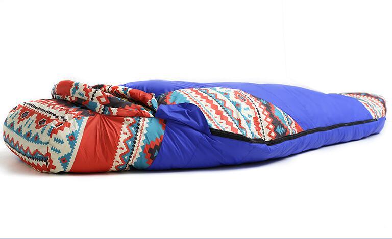 Adult Mummy Goose Down Sleeping lazy bag Outdoor Camping Spring Winter Waterproof Envelope Sleeping Bag Mattress Compression Bag