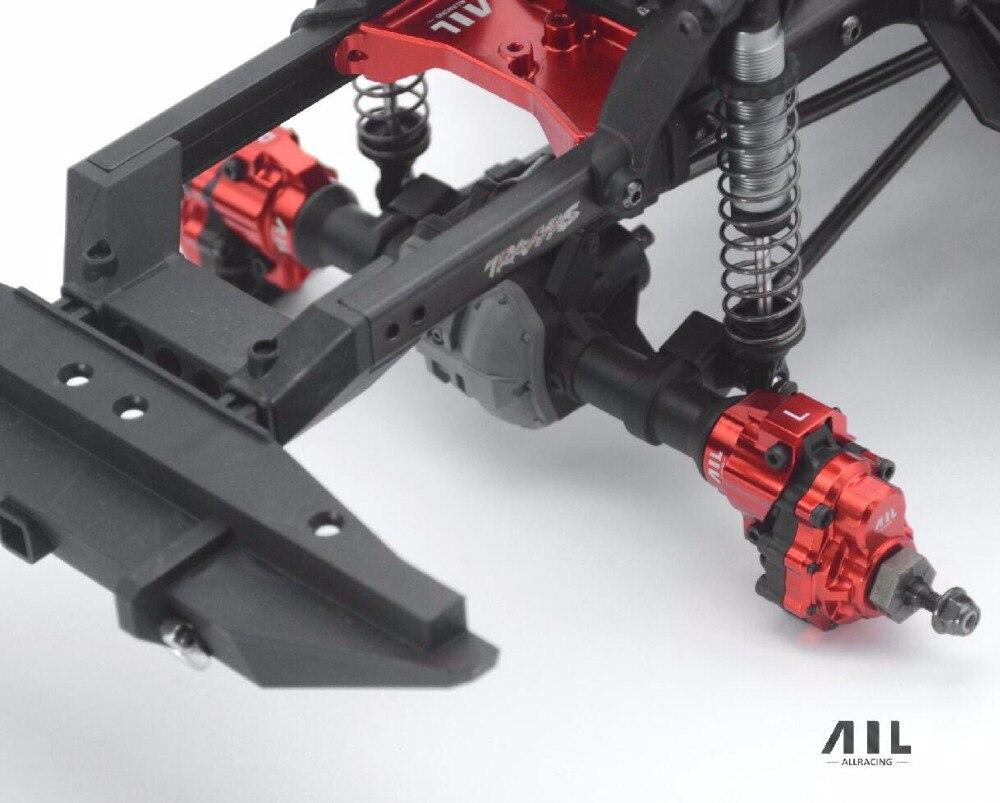 ALLRC 4 PCS 6061 CNC En alliage D'aluminium mise à niveau Optionnelle roue arrière base C pour 1/10 traxxas trx-4 sur chenilles rc voiture pièces