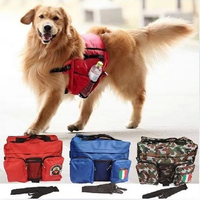 Large Dog Training Supplies Pet Self Backpack Single Shoulder Pet Travel  Carry Dual Purpose Storage Bag