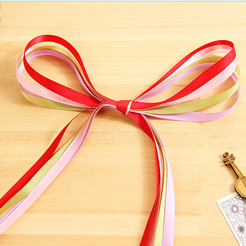 91*0.01 M Ribbon Flower Bouquet Tied Bouquet Floral Packaging Materials Wedding Birthday Party Decoration