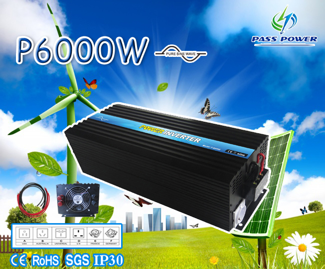 CE,ROHS,GMC Approved, one year warranty, 12 volt inverter  6000w, off grid pure sine wave