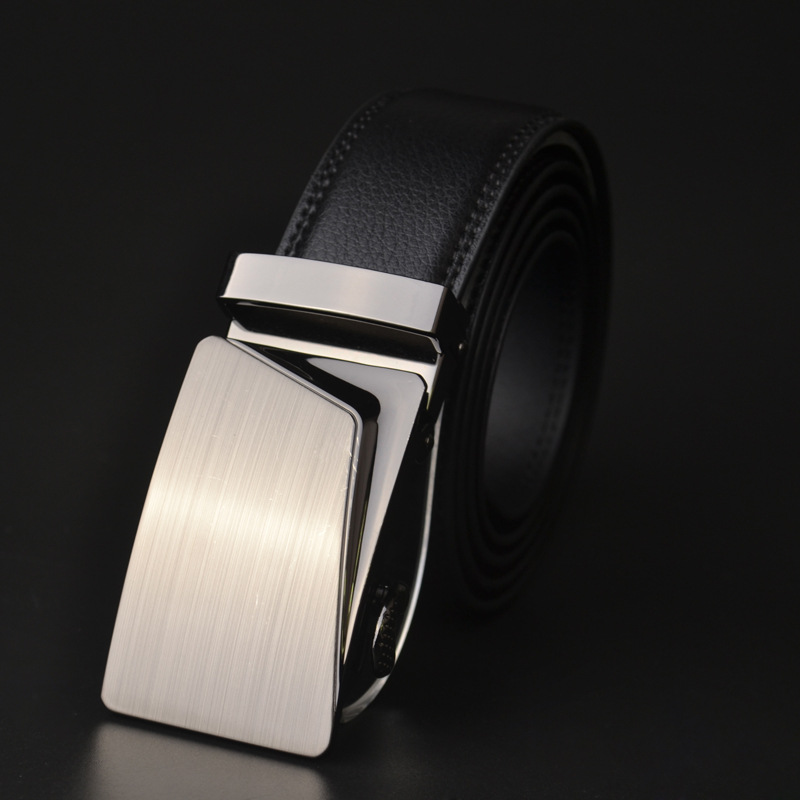 Fashion Men   Belt   Leather Famous brand Designers high quality Luxury Wide3.5CM Metal automatic buckle Waist strap for Hombre male