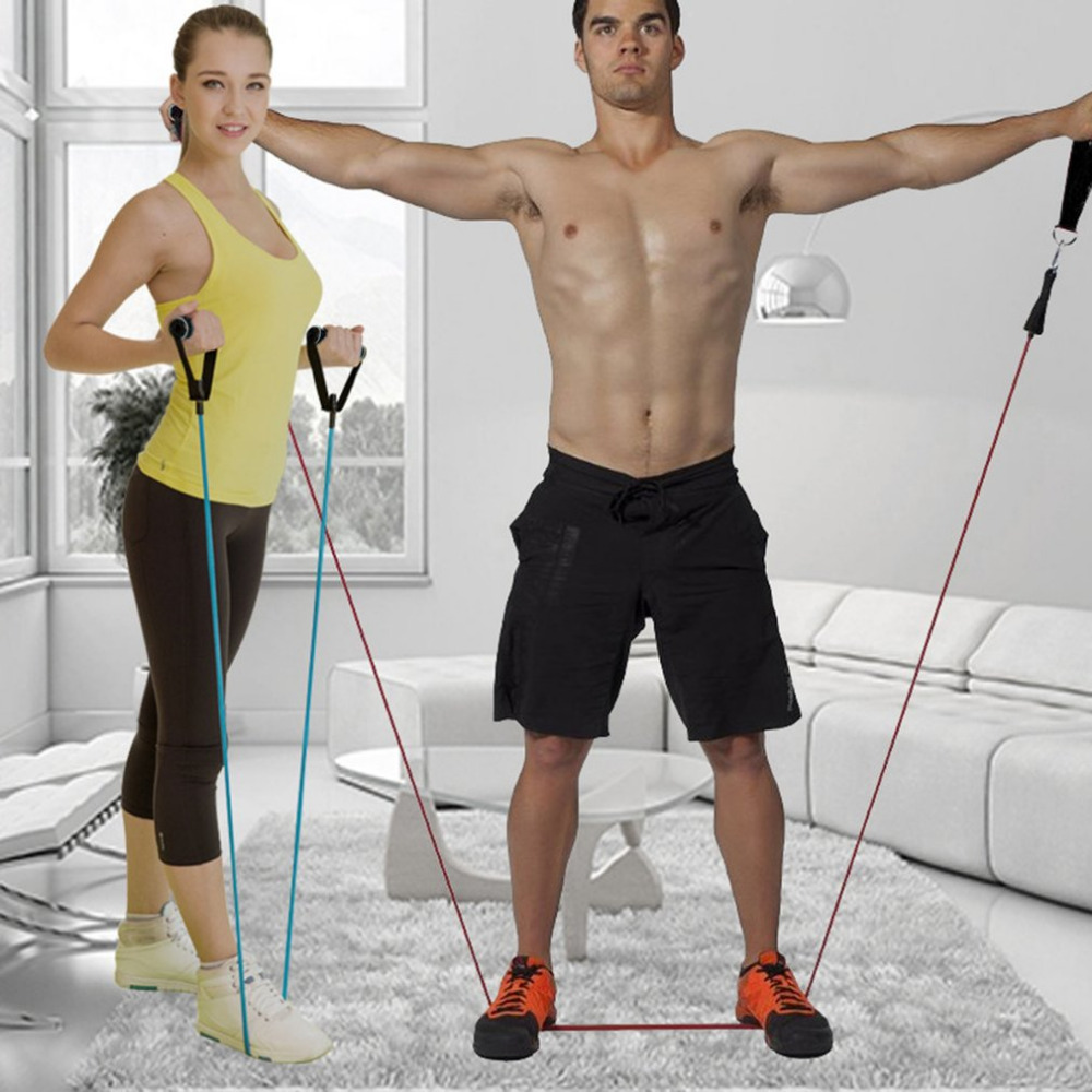 11Pcs/Set Resistance Belt Pilates Latex Tubing Expanders Exercise Tubes Practical Strength Resistance Band Sets Crossfit Fitness