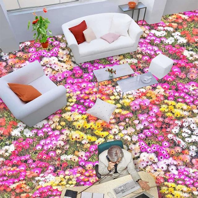 Flores Planta 3D Estereoscópico Wallpaper Interior Moda Diseño Floral Rollo de Papel de Pared Modernos Baños