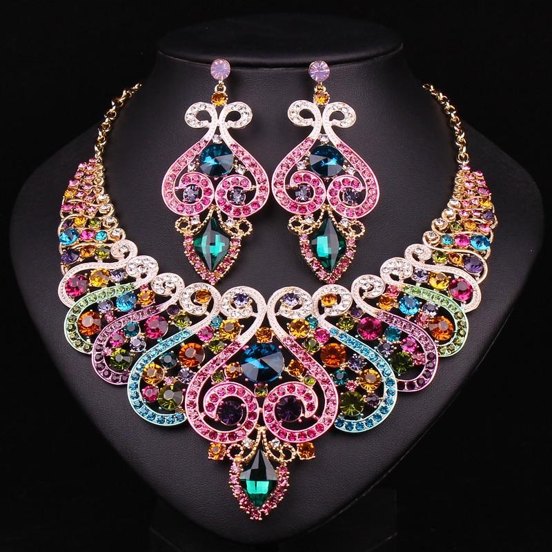 Aliexpress Com Buy New Fashion Necklace Earrings Bridal: Aliexpress.com : Buy Fashion Bridal Jewelry Sets Wedding