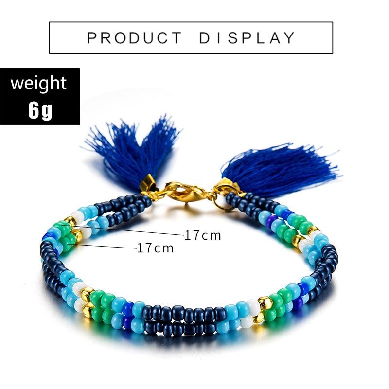 Noter New Fashion Anklets For Women Girls Dark Blue Tassel Foot Bracelet Summer Beach Jewelry Feet Accessories Best Friend Gift 1