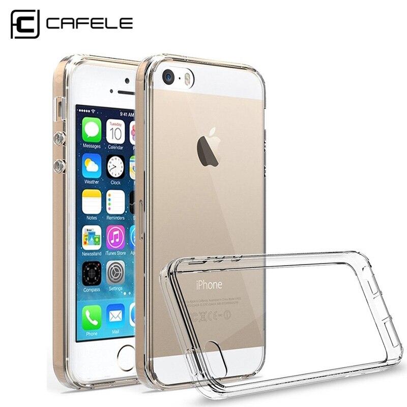 2017 ultra-thin clear case suave del silicio del teléfono para iphone 5 5S moda