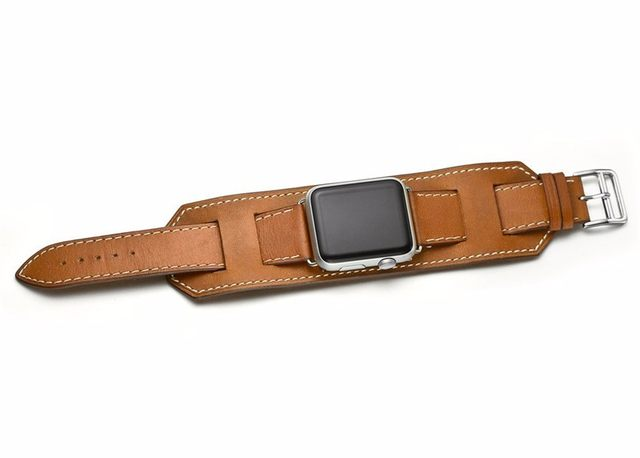 85e7679bea2 CRISTA manguito Couro strap Para apple watch band 42mm 38mm hermes ...
