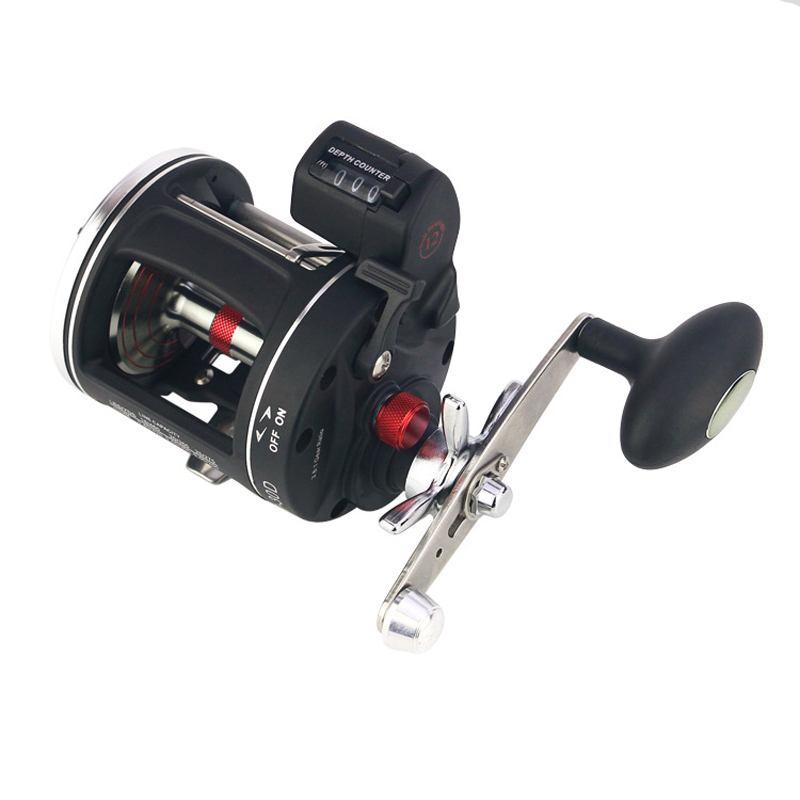 YUYU Metal Digital Bait Casting Fishing Reel counter in feet Trolling Reel Saltwater 3000 cast Fishing