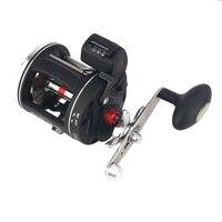 YUYU Metal Digital Bait Casting Fishing Reel counter in feet Trolling Reel Saltwater 3000 cast Fishing drum wheel Drag 20kg