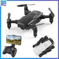 SMRC M11 mini drone FPV wifi drone with camera HD remote control collapsible helicopter self timer four shot helicopter children