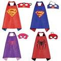 Chrismas crianças capas de super-heróis superman spiderman traje do bebê meninos menina crianças desgaste do partido presente de aniversário suprimentos hero cosplay