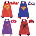 Chrismas kids superhero capes baby superman spiderman costume boys girl children birthday wear gift Party supplies hero cosplay