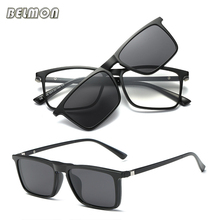 Belmon Spectacle Frame Men Women With Polarized Clip On Sunglasses Magnetic Glasses Male Prescription Computer Optical RS492