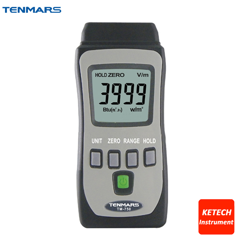 TM750 Mini Pocket Solar Radiation Power Meter Tester Range 4000W/m2 634Btu sm206 solar power meter for solar research