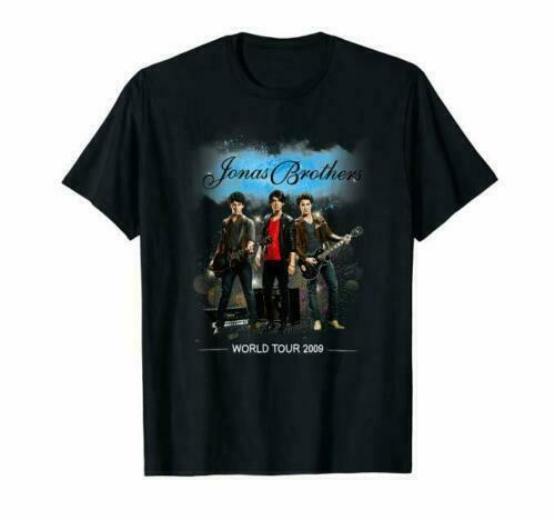 Details About Jonas Brothers World Tour 2009 T-Shirt S-3XL