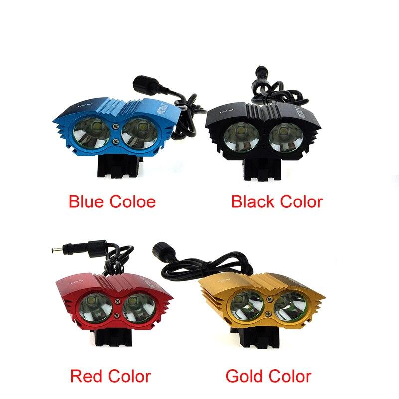 Цена за 5000 Люмен 2 * C XM L T6 СВЕТОДИОДНЫЙ Велосипедов Передний Свет LED MTB Горный Велоспорт Велосипед Прожектор Лампа + Батареи + зарядное устройство
