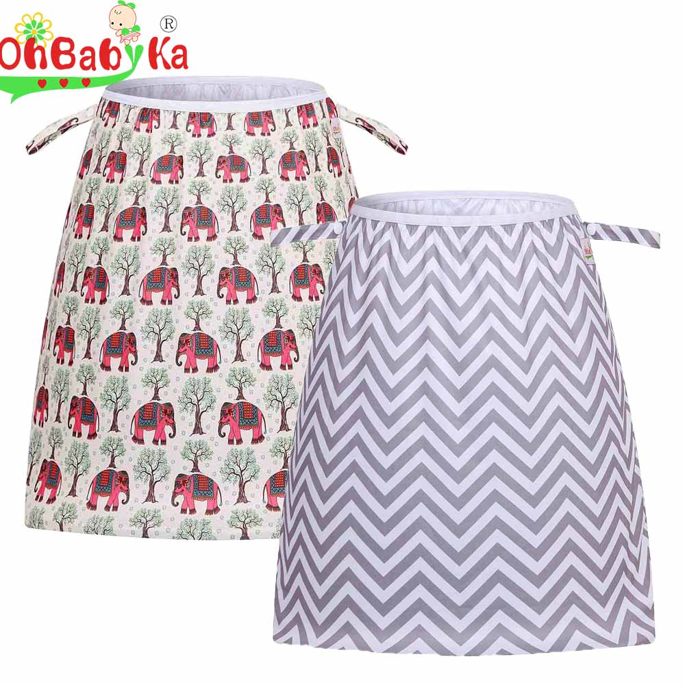 Ohbabyka Reusable Cloth Diaper Pail Liners Wet Dry Bags Washable PUL Pail Liner For Dirty Diapers Pail Or Laundry Bag For Mom