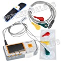 New FDA CE Electrocardiogram Big LCD EKG ECG  Heart Monitor Software USB +Carrier Bag Software+Line+Pads
