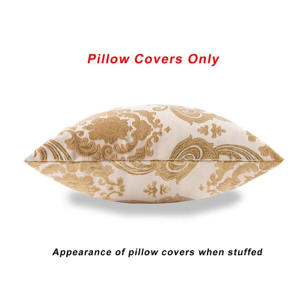 הספה יוקרה זהב אקארד ציפית כרית כיסוי בית תפאורה סיטונאי 2 חבילה עבור 18x18 אינץ