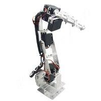 Arduino רובוט 6 DOF אלומיניום קלאמפ Claw הר קיט מכאני זרוע רובוטית & Servos & מתכת סרוו הורן-כסף