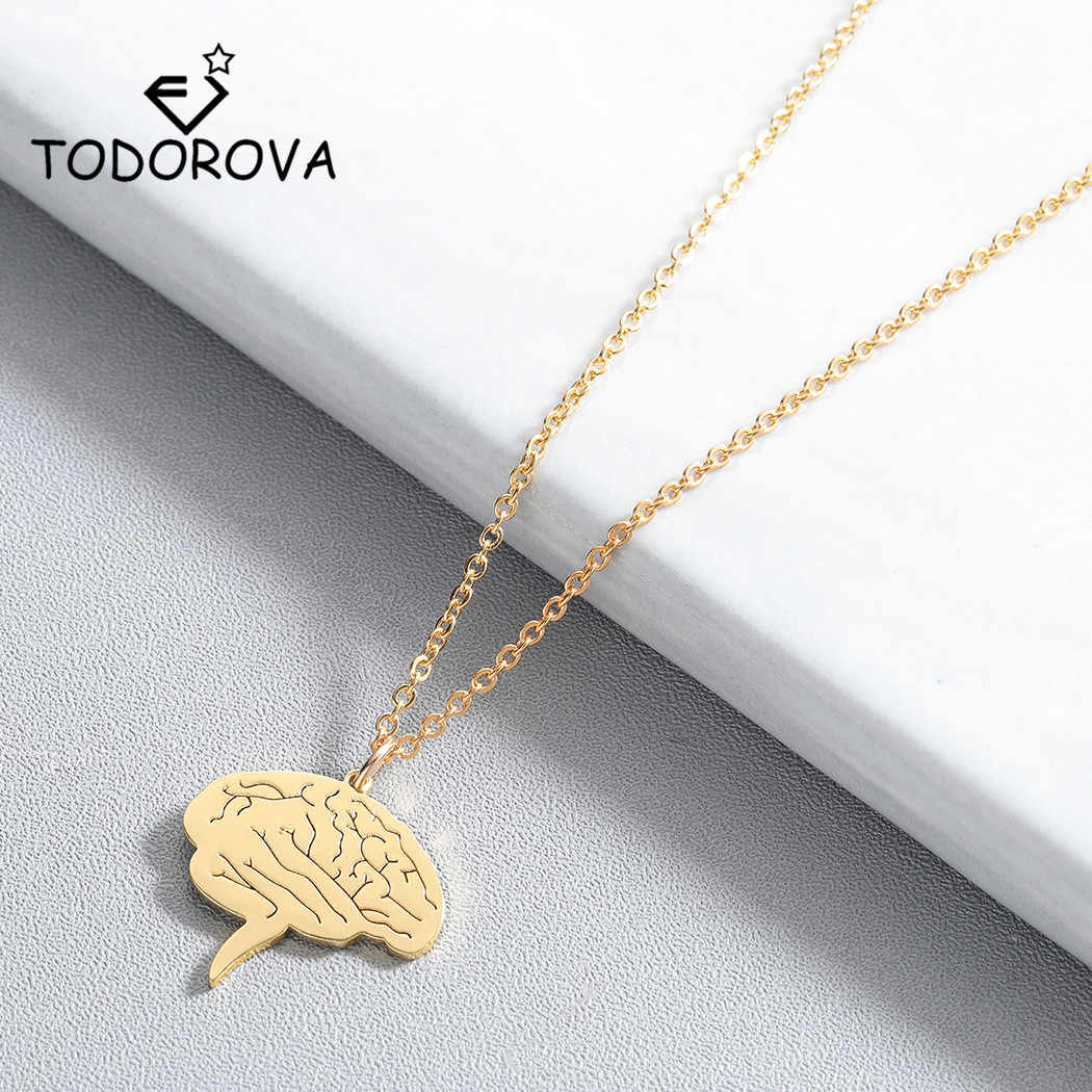 Todorova Fashion Science Jewelry Medical Neuron Brain Nerve Cell Pendant Necklace Nurse Doctor Gift Neuron Necklaces for Women