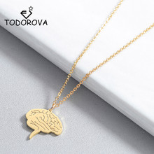 лучшая цена Todorova Fashion Science Jewelry Medical Neuron Brain Nerve Cell Pendant Necklace Nurse Doctor Gift Neuron Necklaces for Women