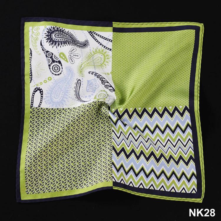NK28 HN12G Green Herringbone Paisley Dot (5)