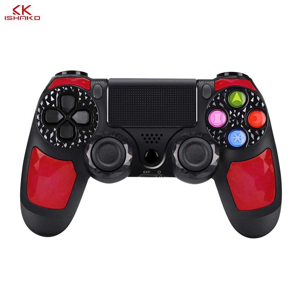 Wireless Controller for Sony PlayStation 4/PS3/PC light bar doubke shock4 built in speaker stereo headset micro usb port