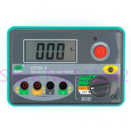 duoyi DY30 2 Auto Range Digital Insulation Resistance Tester Megger Megometro 2500V 20G ohm