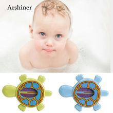 Ванна черепаха зеленая детская синяя игрушка термометр Повседневная комната в форме черепахи детская температура