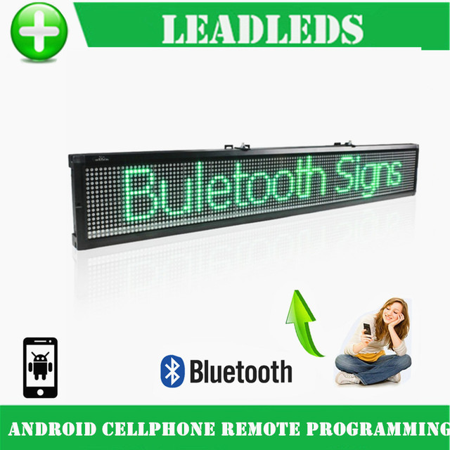 77cm Bluetooth Programmable Led Sign / LED display Board Can Scrolling Message for Business and Store - Green Message