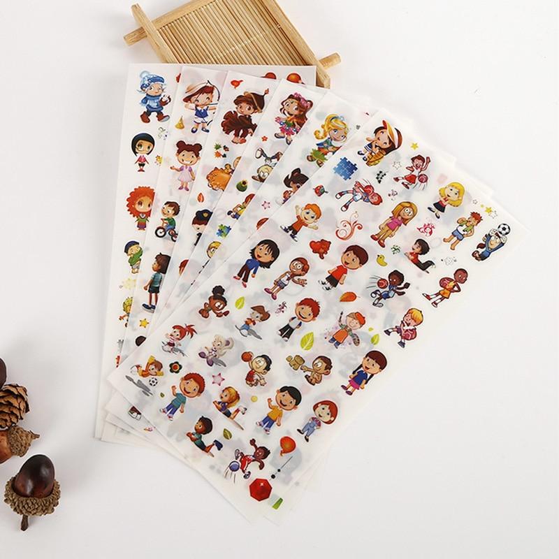 6 pcs/lot Cute boy PVC paper sticker DIY decoration sticky album diary scrapbooking school supplies