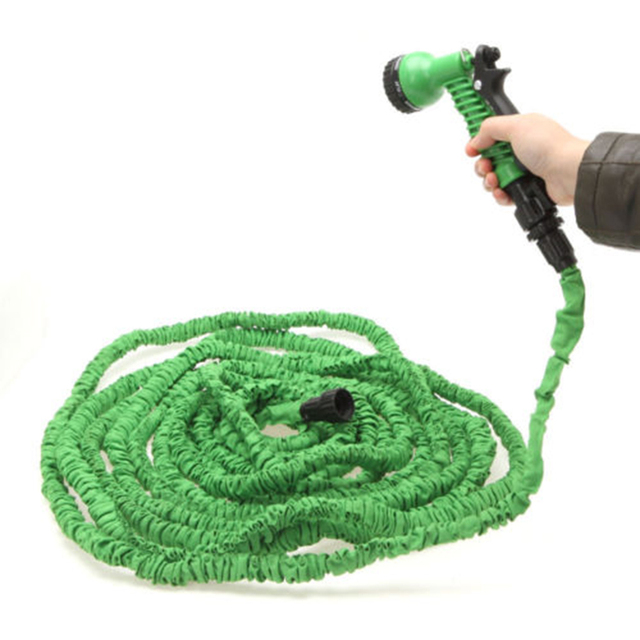 New Latex Garden Water Hose with Spray Nozzle 25 50 75 100 120 150 ...