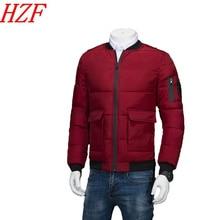 2017 Winter jackets men Outerwear warm overcoat parka cotton padded jacket coat men Thick cotton Parka Plus size