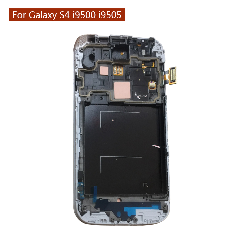 FSTGWAY Super Amoled Original Quality LCD for Samsung Galaxy S4 i9500 I9505 LCD Touch Screen with Frame 100% Tested i9505 LCD