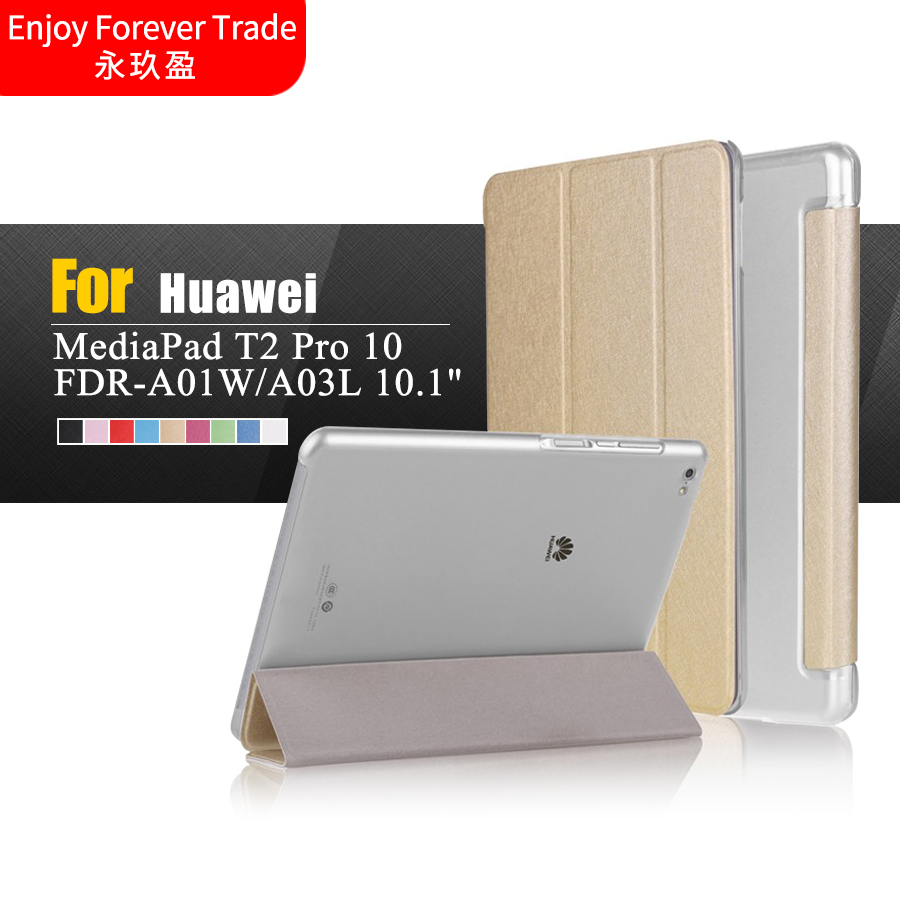 Luxury Ultra Thin Slim Folio Flip Stand For Huawei MediaPad T2 10.0 Pro Tablet FDR-A01W FDR-A03L 10.1 inch Tablet Case new fashion pattern ultra slim lightweight luxury folio stand leather case cover for huawei mediapad t2 pro 10 0 fdr a01w a03l