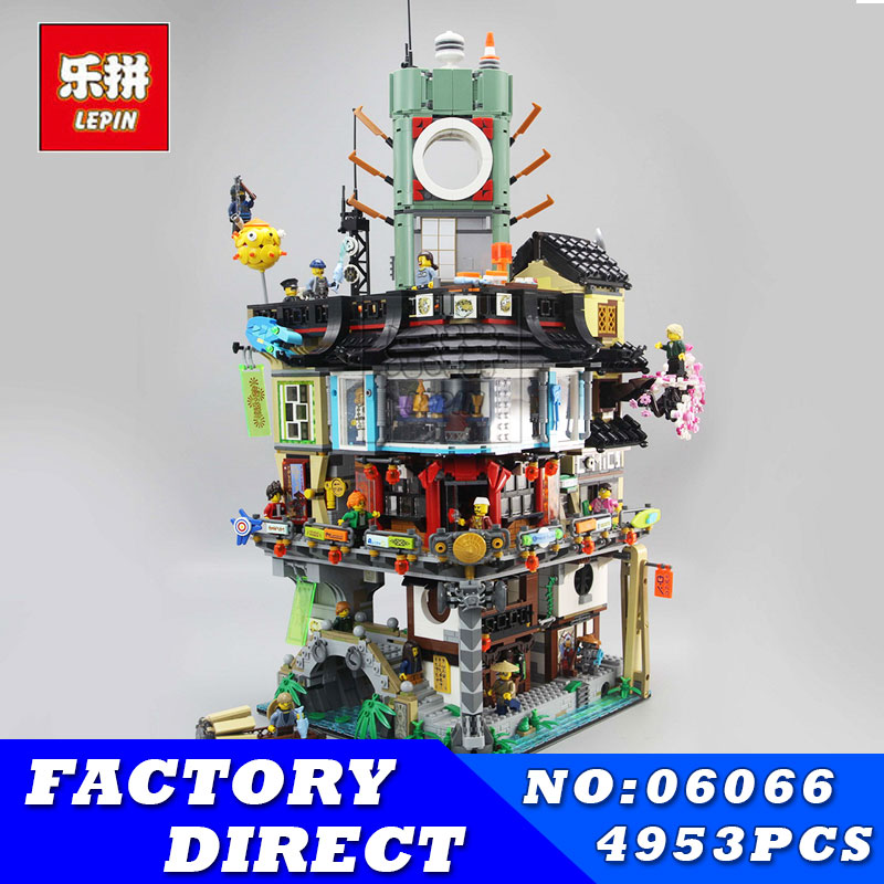 Lepin 06066 4953 pz Serie Ninja Grande Creatore Città Costruzione Modulare Building Blocks Mattoni Adolescenti Giocattoli Compatibili 70620