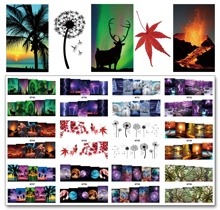 Nail 12 Sheets/Lot MT49-60 Mix Landscape Scenery Art Water Transfer Decal Sticker For Tattoo(12 DESIGNS IN 1)