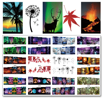 цена на Nail 12 Sheets/Lot Nail MT49-60 Mix Landscape Scenery Nail Art Water Transfer Decal Sticker For Nail Art Tattoo(12 DESIGNS IN 1)