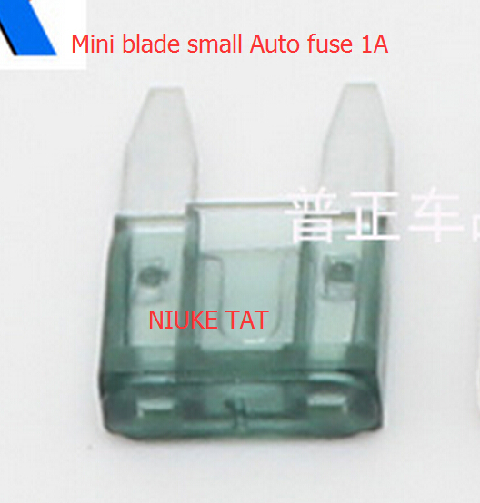 цена на 10pcs Mini blade small Auto fuse 1A Boat Blade Fuse 1A Car fuse Automotive fuse 1A Free shipping