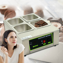 ITOP 4 Lattices With Pans Digital Chocolate Melting Pot Electric Stainless Steel Machine EU/UK/US Plug